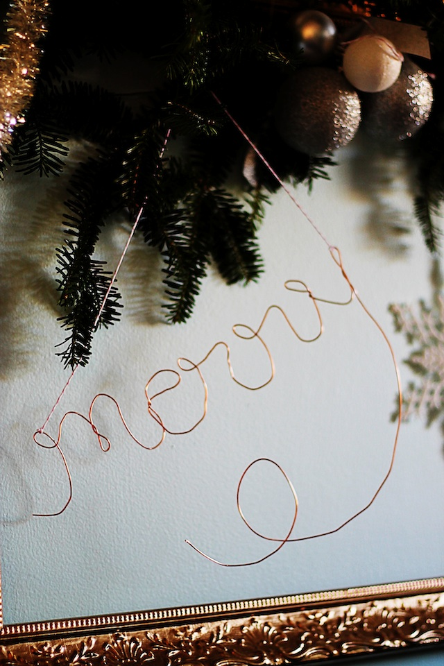 copper wire ornament diy frame 3 | Two Delighted