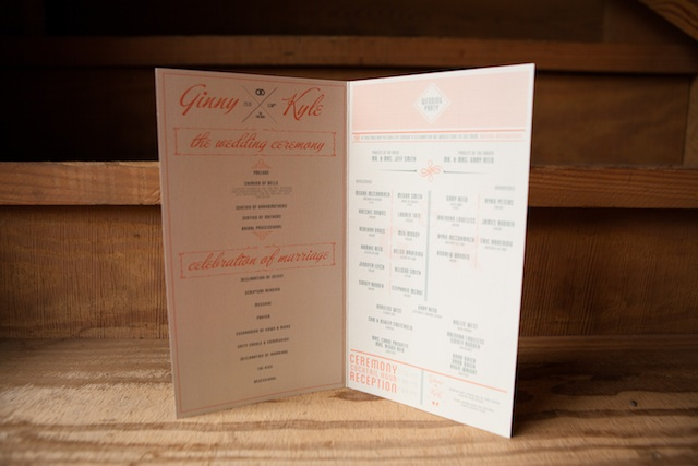 Ginny wedding Wedding Program 2 | Two Delighted
