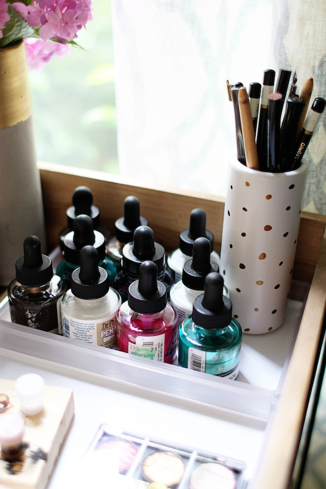 Calligraphy cart ink blog