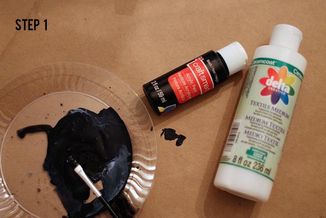 Blood Splatter napkins diy materials