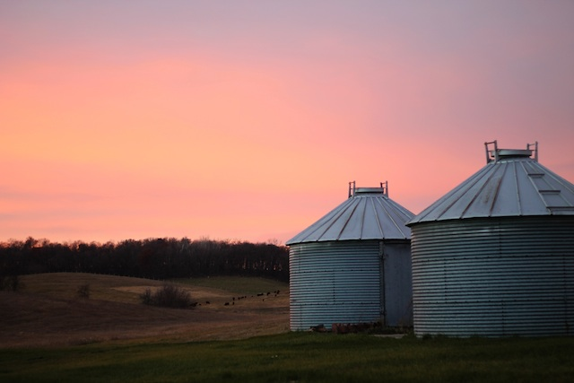 iowa pink sky Two Delighted