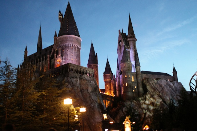 Hogwarts at night Two Delighted