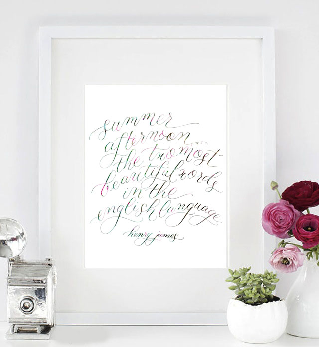 Summer quote calligraphy | Delighted Calligraphy