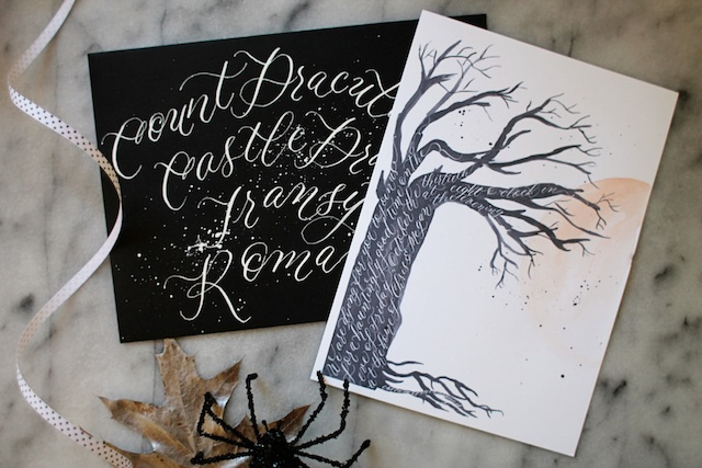 Halloween invitation layered blog