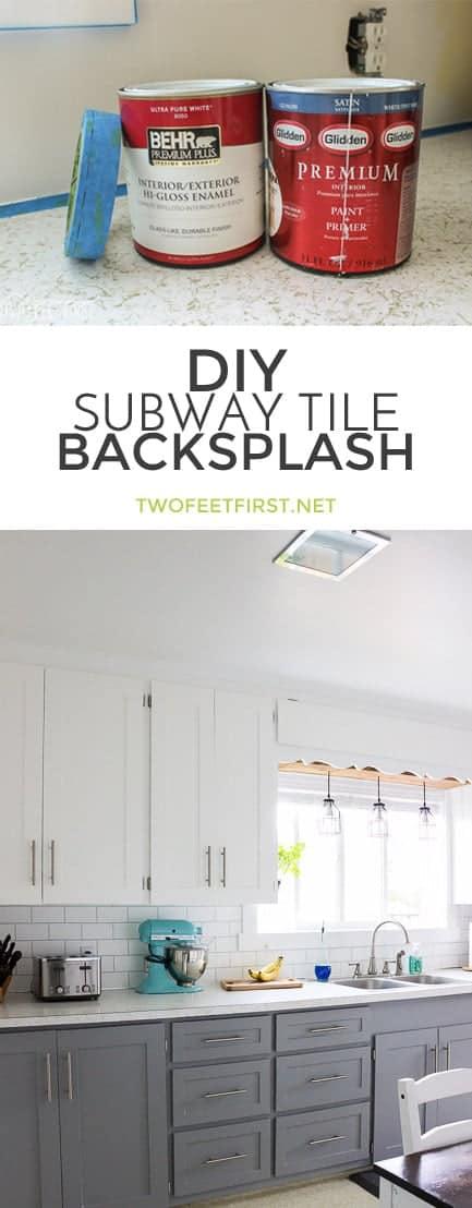 twofeetfirst diy subway tile backsplash