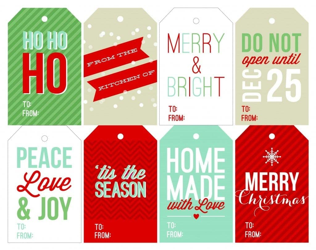 Free Holiday Printable Gift Tags Two Peas Their Pod