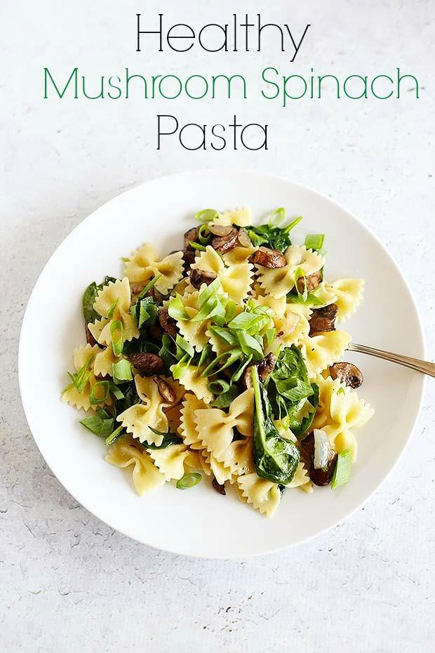 Healthy-Mushroom-Spinach-Pasta-vegan-healthy-dinner-mushrooms-spinach ...
