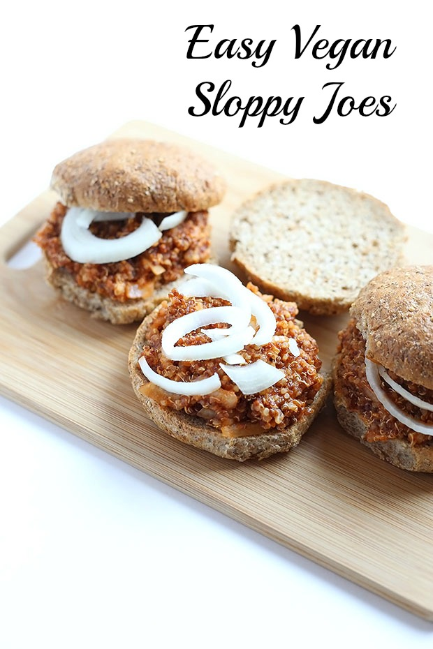 These Easy Vegan Quinoa Sloppy Joes are flavorful and spicy, messy and ...