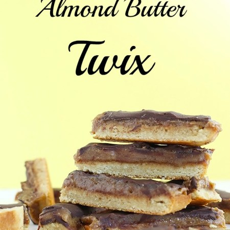 Homemade Vegan Almond Butter Twix with a twist on the bottom cookie layer! Super easy to make, only 6 ingredients, vegan, gluten free and refined sugar free picture / TwoRaspberries.com