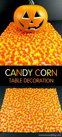 Candy Corn Halloween Table Decoration - Two Sisters