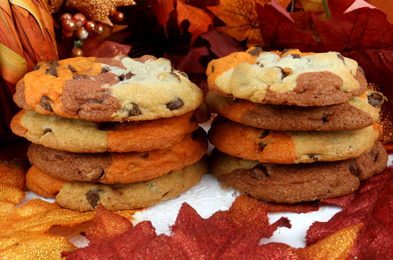 Harvest Marble Chocolate Chip Cookies - Two Sisters