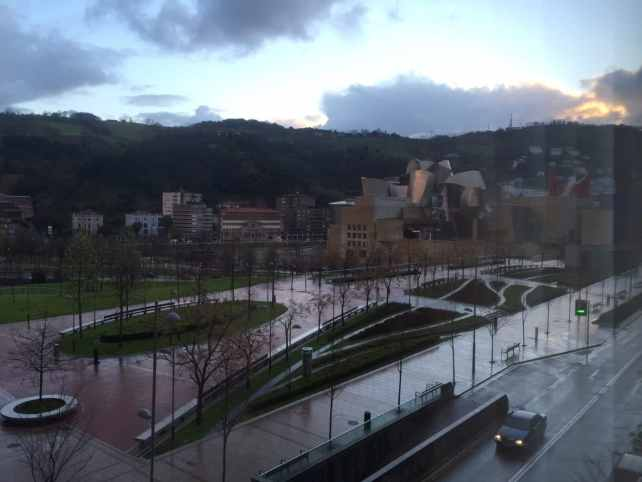 We could see the Guggenheim from our room at Hotel Miro in Bilbao.