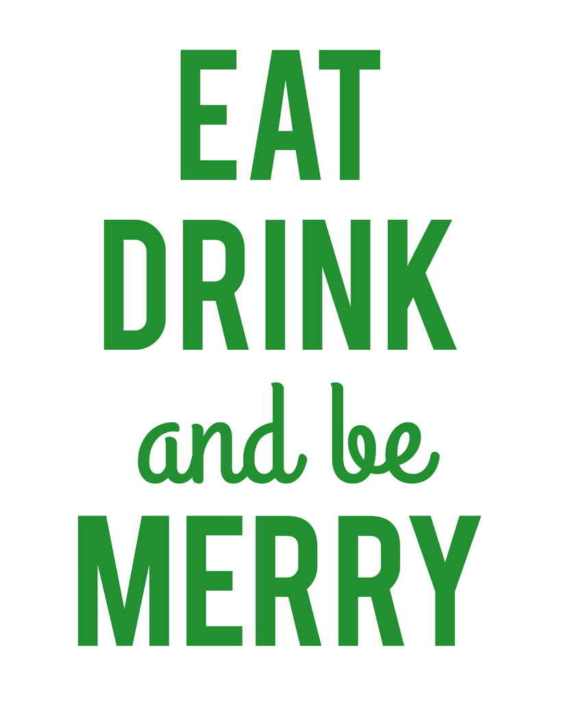 eat drink and be merry printable