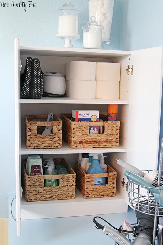 Added master bathroom storage