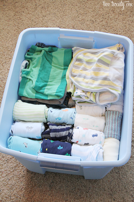 Tips For Storing Baby Clothes