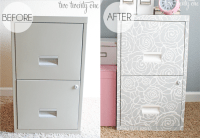 Stenciled File Cabinet - Two Twenty One