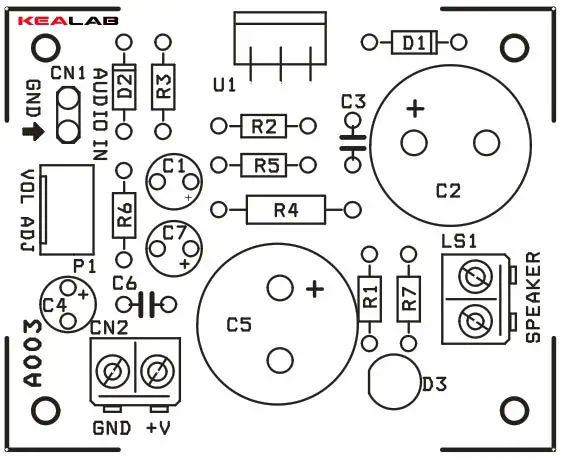 12w audio power amplifier circuit
