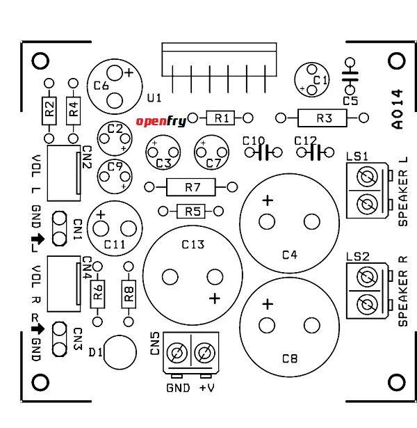 speaker balance indicator circuit