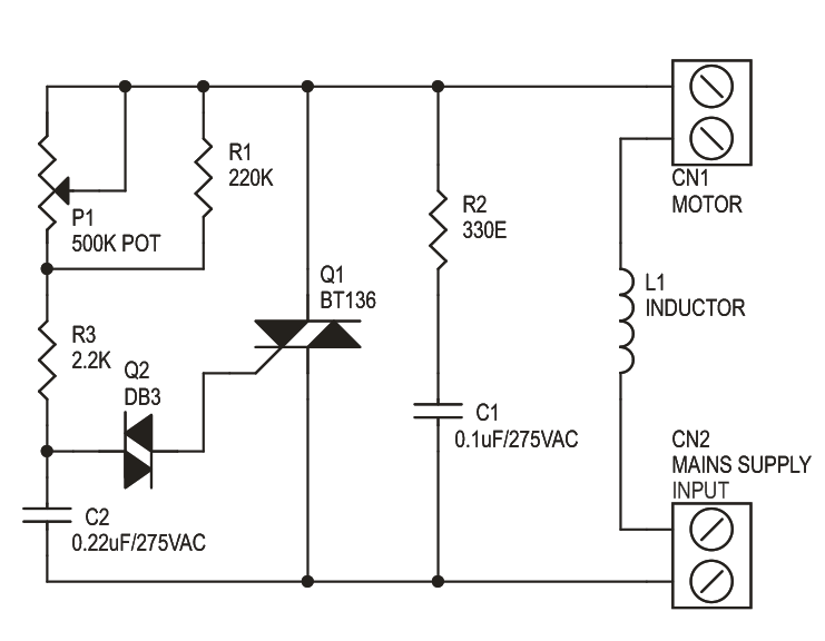 ac motor speed controller wiring diagram