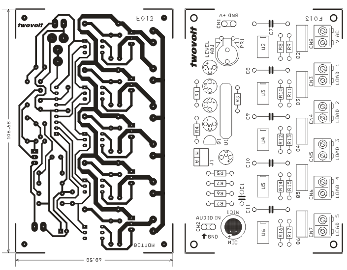 leds or lamps sequencer