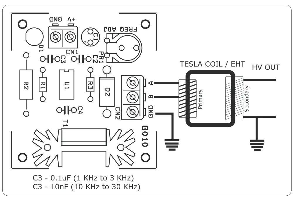 tesla coil circuit