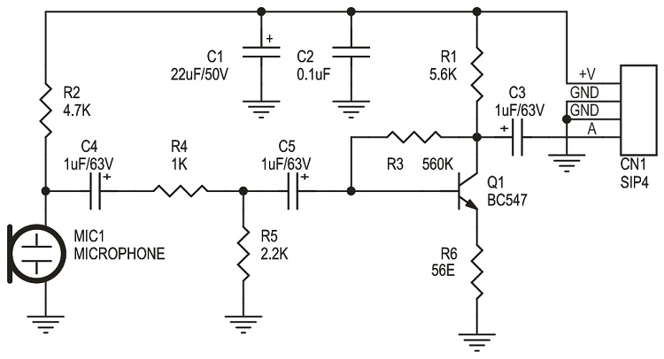 balanced microphone amplifier