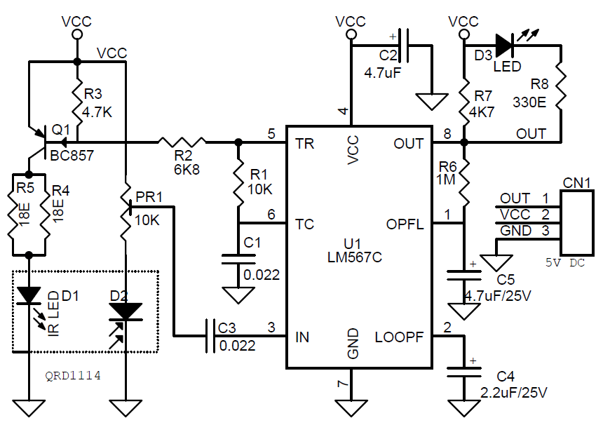 infra red switch circuit