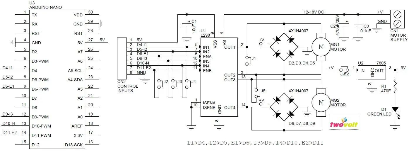 dc stepper motor drive controller board module l298n for arduino