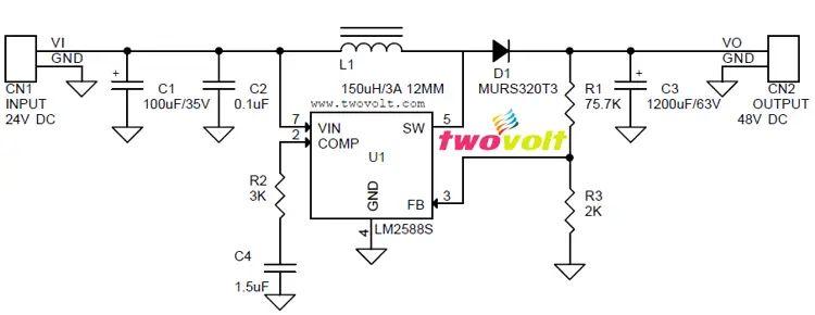 48v to 12v dc to dc converter circuit