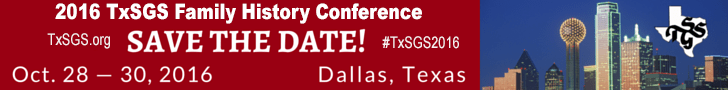 TXSGS 2016 Save the Date