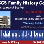 promo graphic for TxSGS 2016 Research Day