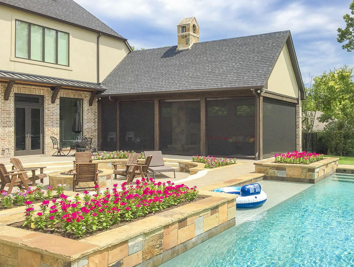 Dallas Motorized Retractable Porch Shade Photos Texas