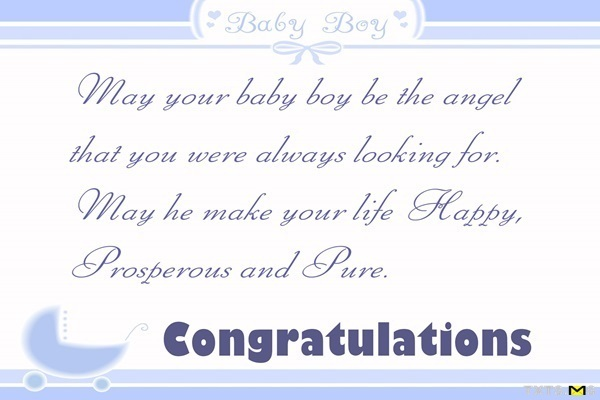 The kind of space your baby boy - Txtsms - congratulation for the baby boy