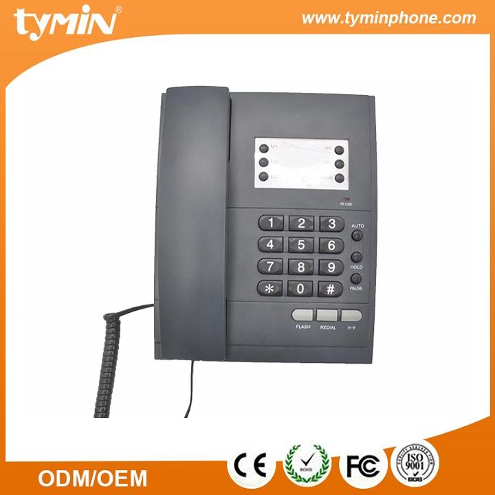 Long life basic corded phone , China user friendly basic phone