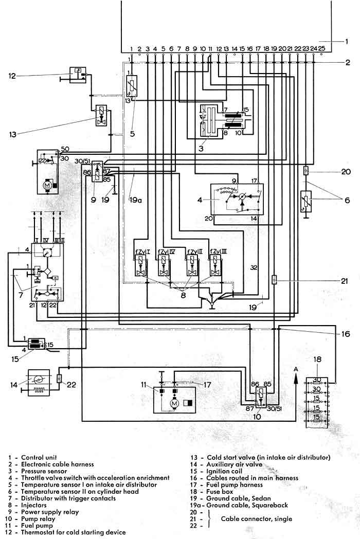 1971 vw squareback wiring diagram