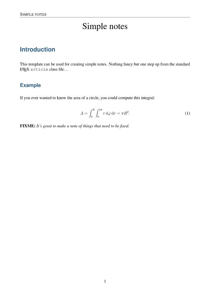 LaTeX notes template - Typesetters - standard meeting minutes format