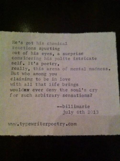 """""""Love Lust"""" by billimarie typewriter poetry"""
