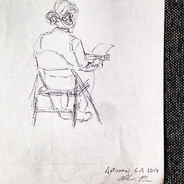Typewriter Poetry Sketch Billimarie Allen  Artisanal LA