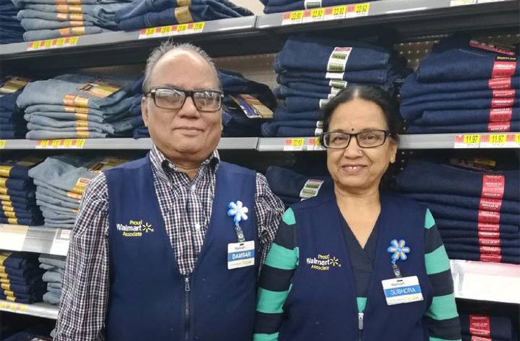 Married Couple Working Together at Tysons Walmart Approach 53rd