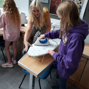 Students were introduced to Textiles by Ms Taylor