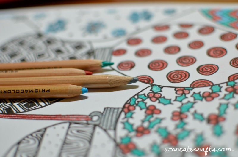 Christmas Ornaments Adult Coloring Page U Create