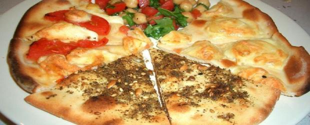 Haloumi Cheese, Zaatar & Tomato Pizzas
