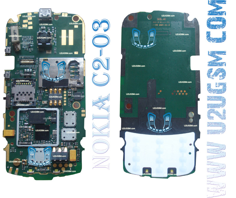 Nokia C2-03 Full PCB Diagram Mother Board Layout