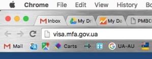сайт посольства Украины в Австралии