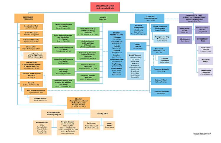 UAB - School of Medicine - Medicine - Organization Chart