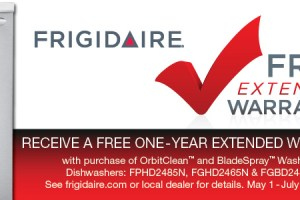 Buy a new dishwasher – Get an extended warranty