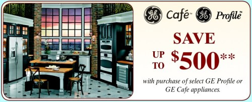 GE Cafe-Profile Instant Savings