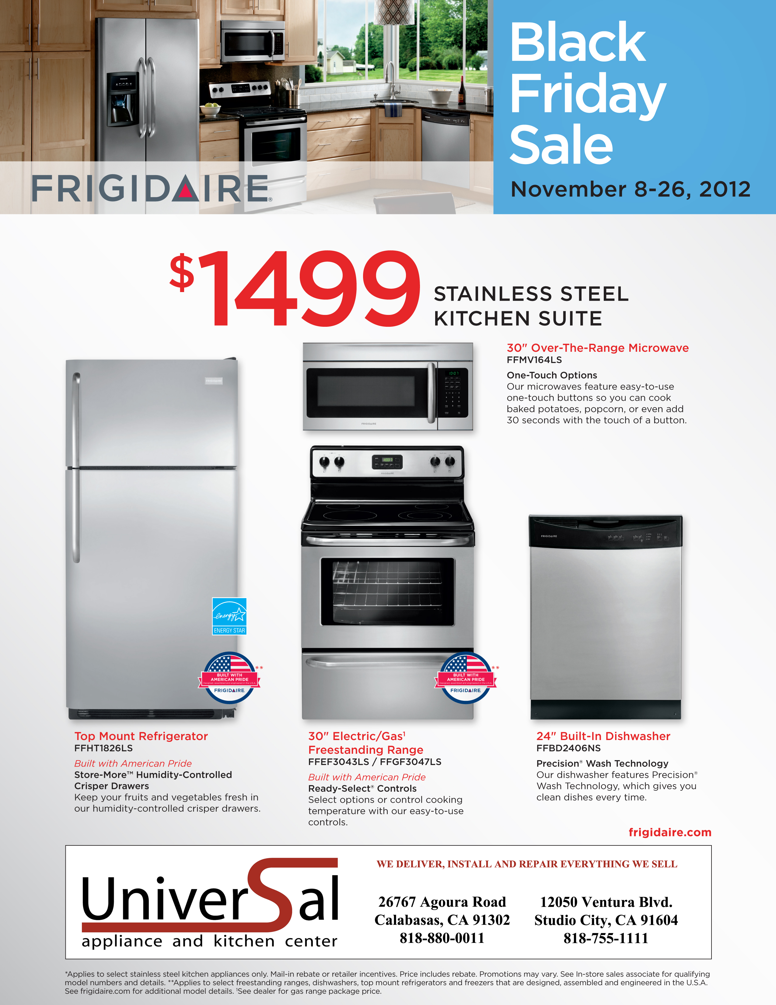 Gas Kitchen Appliance Packages Frigidaire Stainless Steel Kitchen Appliance Package