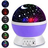 Projection Lamp Kids Light Moon Star projector Multicolor