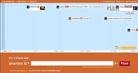 Plurk microblogging